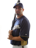Milwaukee Brewers Photo Day, MARYVALE, AZ - FEBRUARY 24: Wil Nieves Photographic Print by Jonathan Ferrey