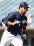 Oakland Athletics v Milwaukee Brewers, PHOENIX, AZ - MARCH 03: Carlos Gomez Photographic Print by Christian Petersen