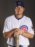 Chicago Cubs Photo Day, MESA, AZ - FEBRUARY 22: Tyler Colvin Photographic Print by Ezra Shaw