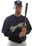 Milwaukee Brewers Photo Day, MARYVALE, AZ - FEBRUARY 24: Mark Kotsay Photographic Print by Jonathan Ferrey