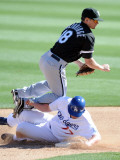 Chicago White Sox v Los Angeles Dodgers, PHOENIX, AZ - FEBRUARY 28: Brent Lillibridge Photographic Print by Harry How