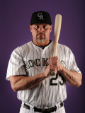Colorado Rockies Photo Day, SCOTTSDALE, AZ - FEBRUARY 24: Jason Giambi Photographic Print by Harry How