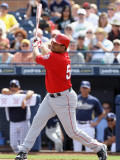 Los Angeles Angels of Anaheim v San Diego Padres, PEORIA, AZ - MARCH 15: Bobby Abreu Photographic Print by Christian Petersen