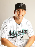 Florida Marlins Photo Day, JUPITER, FL - FEBRUARY 23: John Baker Photographic Print by Mike Ehrmann