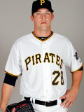 Pittsburgh Pirates Photo Day, BRADENTON, FL - FEBRUARY 20: Paul Maholm Photographic Print by J. Meric