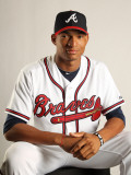 Atlanta Braves Photo Day, LAKE BUENA VISTA, FL - FEBRUARY 21: Christian Bethancourt Photographic Print by Mike Ehrmann