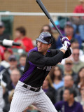 Colorado Rockies v Arizona Diamondbacks, SCOTTSDALE, AZ - FEBRUARY 26: Seth Smith Photographic Print by Jonathan Ferrey
