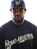 Milwaukee Brewers Photo Day, MARYVALE, AZ - FEBRUARY 24: Prince Fielder Photographic Print by Jonathan Ferrey