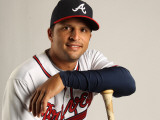 Atlanta Braves Photo Day, LAKE BUENA VISTA, FL - FEBRUARY 21: Martin Prado Photographic Print by Mike Ehrmann