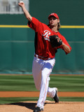 Cleveland Indians v Cincinnati Reds, GOODYEAR, AZ - FEBRUARY 28: Bronson Arroyo Photographic Print by Norm Hall
