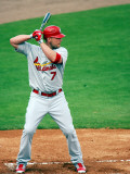 St. Louis Cardinals v Florida Marlins, JUPITER, FL - MARCH 01: Matt Holliday Photographic Print by Marc Serota