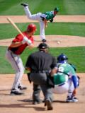 Chicago White Sox v Milwaukee Brewers, GLENDALE, AZ - MARCH 17: Chad Billingsley Photographic Print by Kevork Djansezian