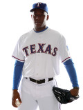 Texas Rangers Photo Day, SURPRISE, AZ - FEBRUARY 25: Neftali Feliz Photographic Print by Jonathan Ferrey