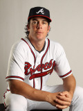 Atlanta Braves Photo Day, LAKE BUENA VISTA, FL - FEBRUARY 21: Brent Clevlen Photographic Print by Mike Ehrmann