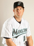 Florida Marlins Photo Day, JUPITER, FL - FEBRUARY 23: Wes Helms Photographic Print by Mike Ehrmann