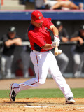 Florida Marlins v Washington Nationals, VIERA, FL - MARCH 02: Ryan Zimmerman Photographic Print by Mike Ehrmann