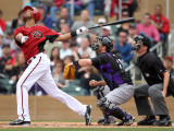 Colorado Rockies v Arizona Diamondbacks, SCOTTSDALE, AZ - FEBRUARY 26: Chris Young Photographic Print by Jonathan Ferrey