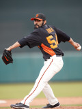 Arizona Diamondbacks v San Francisco Giants, SCOTTSDALE, AZ - FEBRUARY 25: Sergio Romo Photographic Print by Rob Tringali