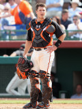 Chicago Cubs v San Francisco Giants, SCOTTSDALE, AZ - MARCH 01: Buster Posey Photographic Print by Christian Petersen