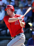 Los Angeles Angels of Anaheim v Texas Rangers, SURPRISE, AZ - MARCH 02: Mark Trumbo Photographic Print by Christian Petersen
