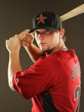 Houston Astros Photo Day, KISSIMMEE, FL - FEBRUARY 24: Chris Johnson Photographic Print by Al Bello