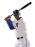 Texas Rangers Photo Day, SURPRISE, AZ - FEBRUARY 25: Elvis Andrus Photographic Print by Jonathan Ferrey