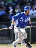 Kansas City Royals v Texas Rangers, SURPISE, AZ - FEBRUARY 27: Mike Moustakas Photographic Print by Rob Tringali