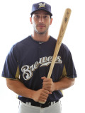 Milwaukee Brewers Photo Day, MARYVALE, AZ - FEBRUARY 24: George Kottaras Photographic Print by Jonathan Ferrey