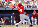 Los Angeles Angels of Anaheim v San Diego Padres, PEORIA, AZ - MARCH 15: Torii Hunter Photographie par Christian Petersen