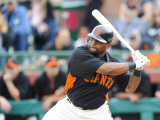 Los Angeles Dodgers v San Francisco Giants, SCOTTSDALE, AZ - FEBRUARY 26: Pablo Sandoval Photographic Print by Rob Tringali