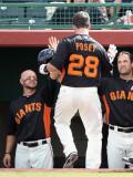 Chicago Cubs v San Francisco Giants, SCOTTSDALE, AZ Photographic Print by Christian Petersen