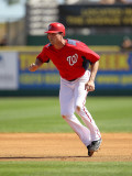Florida Marlins v Washington Nationals, VIERA, FL - MARCH 02: Rick Ankiel Photographic Print by Mike Ehrmann