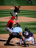 Cincinnati Reds v Colorado Rockies, SCOTTSDALE, AZ - MARCH 14: Jhoulys Chacin Photographie par Kevork Djansezian