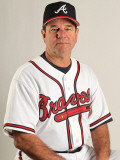 Atlanta Braves Photo Day, LAKE BUENA VISTA, FL - FEBRUARY 21: Carlos Tosca Photographic Print by Mike Ehrmann