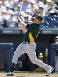 Oakland Athletics v Seattle Mariners, PEORIA, AZ - MARCH 12: Cliff Pennington Photographic Print by Christian Petersen