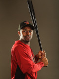 Houston Astros Photo Day, KISSIMMEE, FL - FEBRUARY 24: Michael Bourn Photographic Print by Al Bello