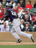 Colorado Rockies v Arizona Diamondbacks, SCOTTSDALE, AZ - FEBRUARY 26: Dexter Fowler Photographic Print by Jonathan Ferrey