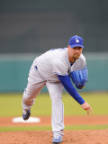 Los Angeles Dodgers v San Francisco Giants, SCOTTSDALE, AZ - FEBRUARY 26: Tim Redding Photographic Print by Rob Tringali