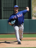 Texas Rangers v Oakland Athletics, PHOENIX, AZ - MARCH 04: C.J. Wilson Photographic Print by Norm Hall