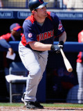Cleveland Indians v San Diego Padres, PEORIA, AZ - MARCH 13: Austin Kearns Photographic Print by Kevork Djansezian