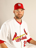 St. Louis Cardinals Photo Day, JUPITER, FL - FEBRUARY 24: Chris Carpenter Photographic Print by Mike Ehrmann