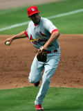 St. Louis Cardinals v New York Mets, PORT ST. LUCIE, FL - MARCH 03: Matt Carpenter Photographic Print by Marc Serota