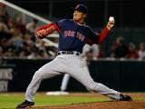 Boston Red Sox v Minnesota Twins, FORT MYERS, FL - FEBRUARY 27: Hideki Okajima Photographic Print by J. Meric