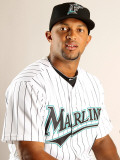 Florida Marlins Photo Day, JUPITER, FL - FEBRUARY 23: Emilio Bonifacio Photographic Print by Mike Ehrmann