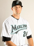 Florida Marlins Photo Day, JUPITER, FL - FEBRUARY 23: Dustin Richardson Photographic Print by Mike Ehrmann