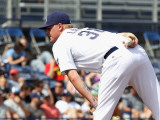 Oakland Athletics v San Diego Padres, PEORIA, AZ - MARCH 06: Mat Latos Photographic Print by Christian Petersen