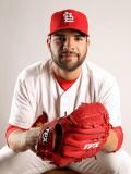 St. Louis Cardinals Photo Day, JUPITER, FL - FEBRUARY 24: Jaime Garcia Photographic Print by Mike Ehrmann