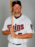 Minnesota Twins Photo Day, FORT MYERS, FL - FEBRUARY 25: Michael Cuddyer Photographic Print by J. Meric