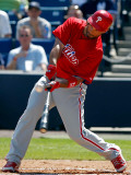 Philadelphia Phillies v New York Yankees, TAMPA, FL - FEBRUARY 26: Raul Ibanez Photographic Print by J. Meric