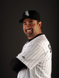 Chicago White Sox Photo Day, GLENDALE, AZ - FEBRUARY 26: Ozzie Guillen Photographic Print by Harry How
